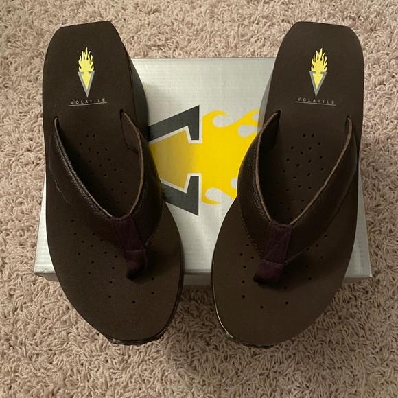 Volatile Frappachino flip flops